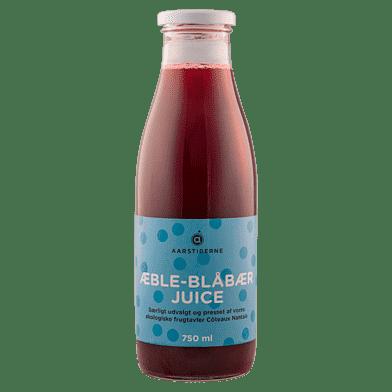 Æble-blåbærjuice