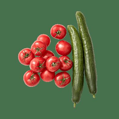 Agurk og tomat Pose