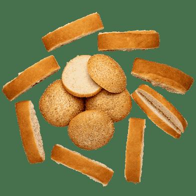 Burgerboller og pølsebrød