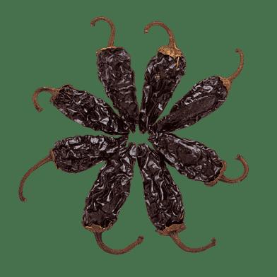 Tørrede chipotle-chilier
