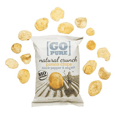 Chips med peber og salt