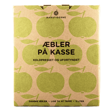 Danske æbler på kasse