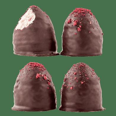 Flødeboller – Hindbær