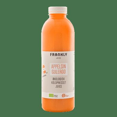Frankly gulerods- og appelsinjuice