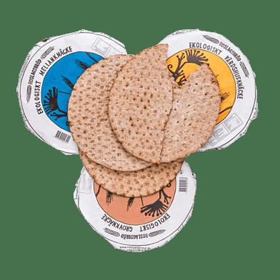 Knækbrød – 3 slags