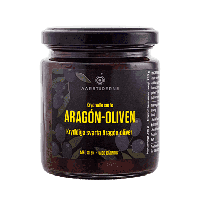 Krydrede sorte oliven