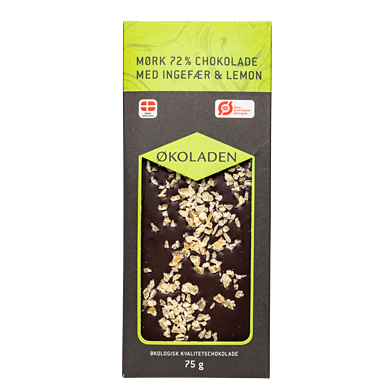 Mørk chokolade – Ingefær/citron
