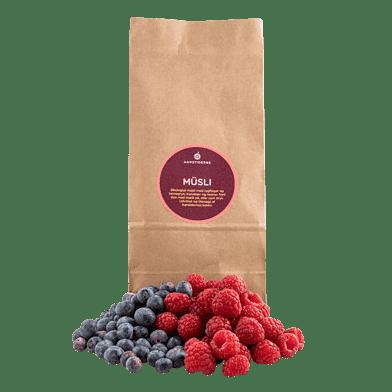 Müsli med friske bær