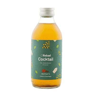 Rebæl Cocktail – Gin/hyldeblomst/mynte