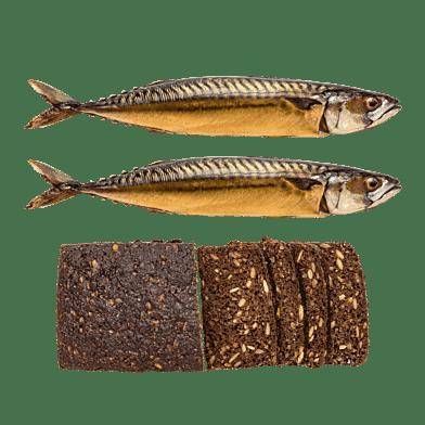 Røget makrel og rugbrød