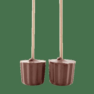 Chokolade-rørepinde, lys