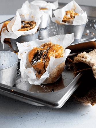 Æggefritta med svampe og basilikum
