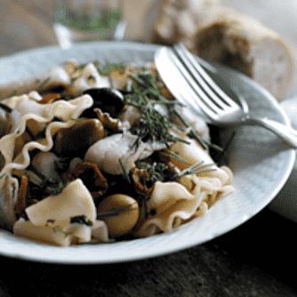 Dagen-efter-skrubbe med pasta