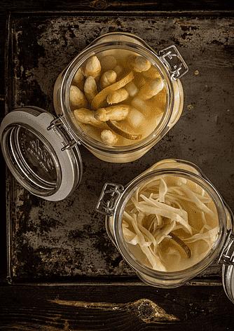 Fermenterede asparges