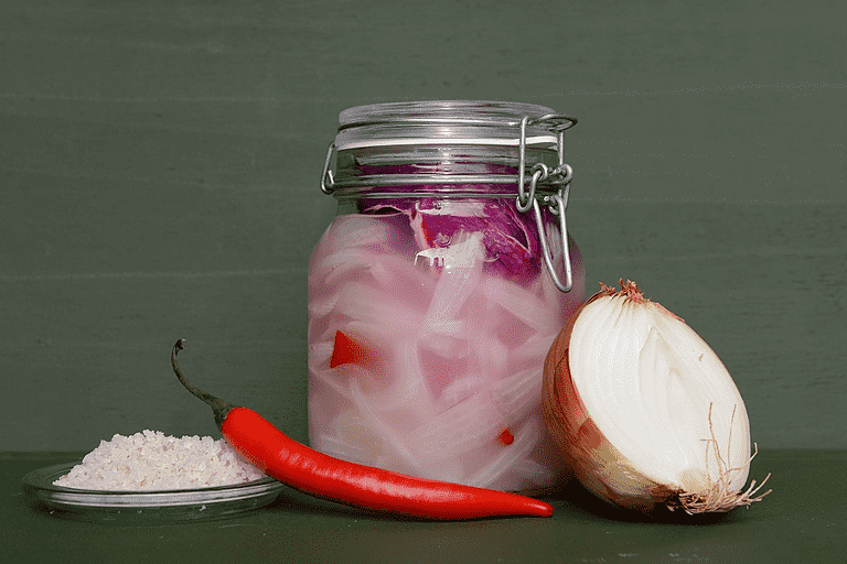 Fermenterede spicy løg