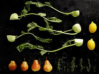 Glaskål og pære