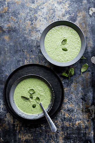 Grøn gazpacho