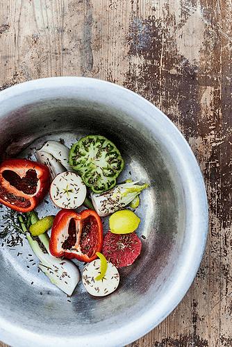 Grønne tomater og grape