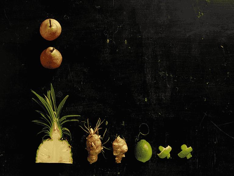 Jordskok og ananas