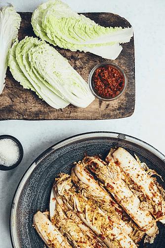 Kvarte kimchi-kinakål