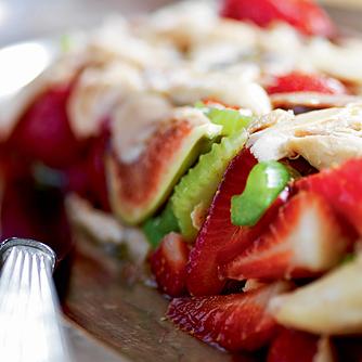Kyllinge-sommersyltet med figner og jordbær