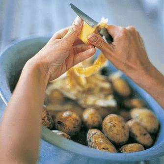Persillerodssuppe med kartofler og porrer