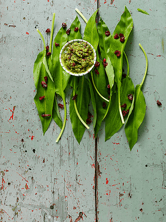 Ramsløg og tranebær-greenie