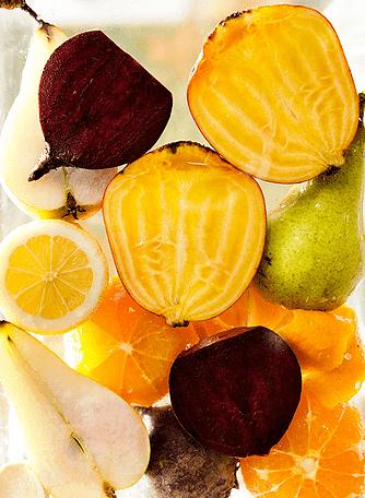 Rødbede, appelsin og peberrod
