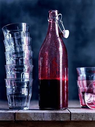 Rødbede-pærecitrussaft med ekstra godter