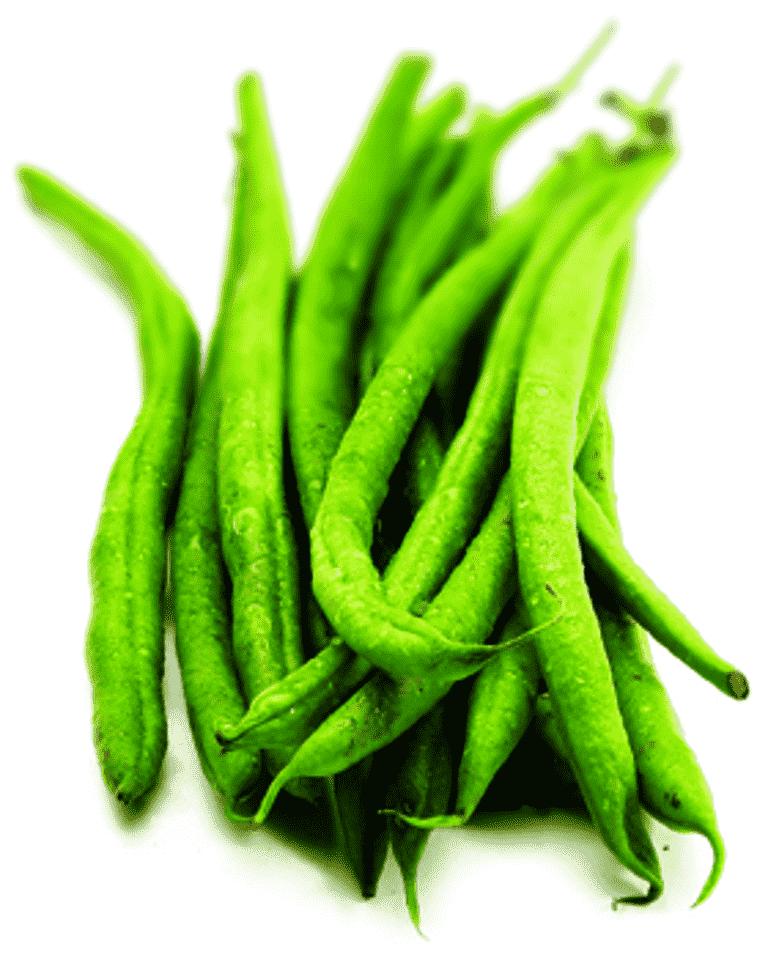 Långa gröna bönor